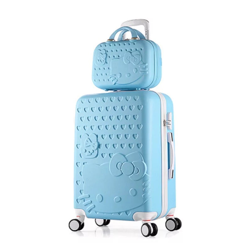14af4a9929 Girls Hello Kitty Suitcase Cute Luggage Set Series 20 24 Inch Child Trolley  Suitcase Travel Bag