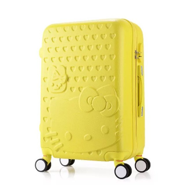 Girls Hello Kitty Suitcase Cute Luggage Set Series 20 24 Inch Child Trolley Suitcase Travel Bag