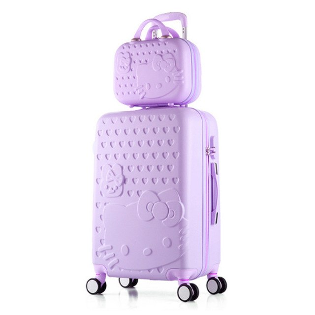 346b1acb4 Girls Hello Kitty Suitcase Cute Luggage Set Series 20 24 Inch Child Trolley  Suitcase Travel Bag
