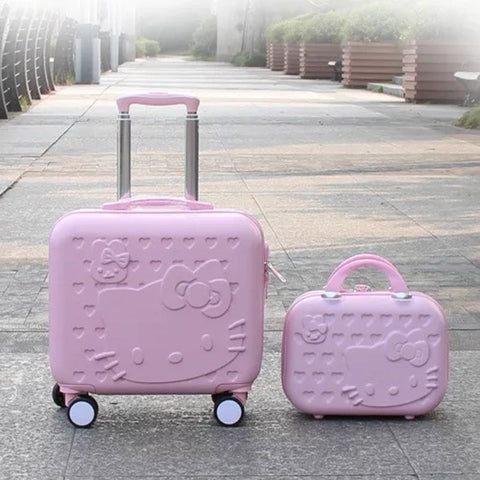 Hello Kitty Luggage Bag,Kids Lovely Suitcase Set,Children Abs Cartoon Trolley Suitcase ,Girls