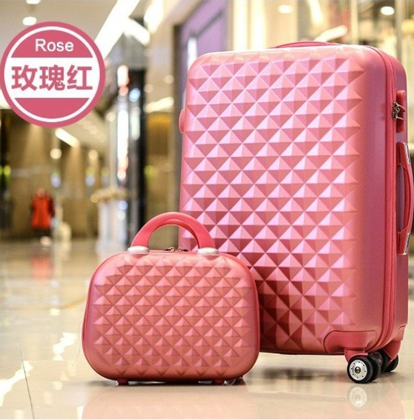 Caludan Girls Cute Trolley Luggage Set Abs Hardside Cheap Travel Suitcase Bag On Wheel