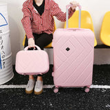 Beasumore Retro Rolling Luggage Set Spinner Travel Bag Suitcase Wheels Password Trolley 20 Inch
