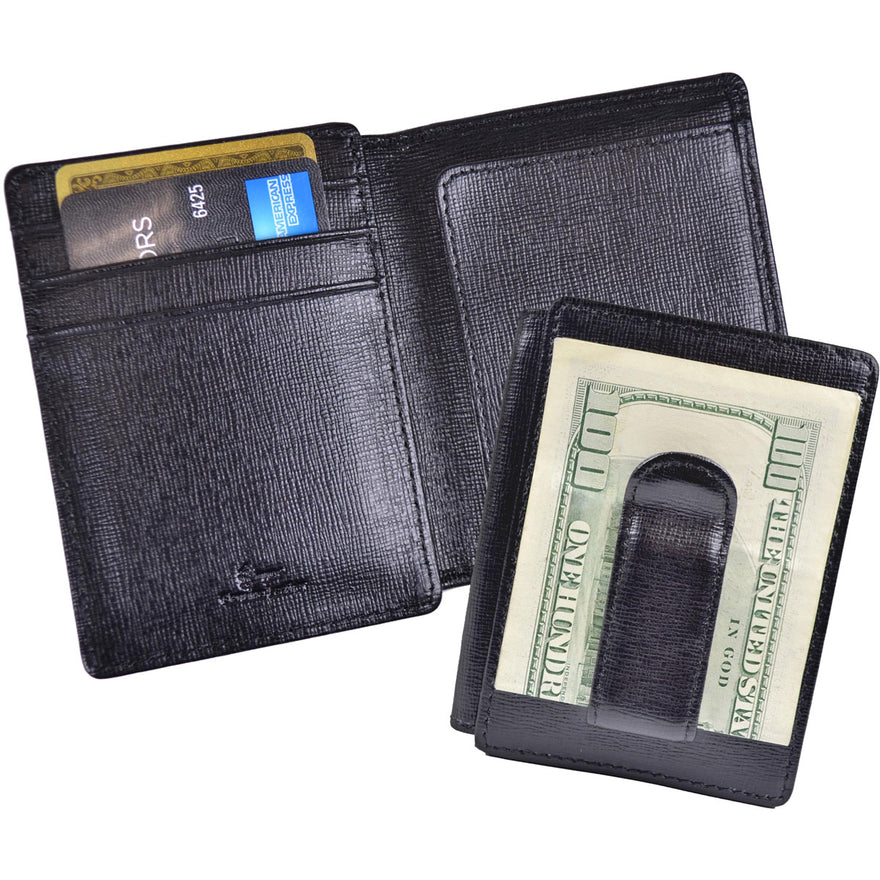 Royce Leather Slim Money Clip Credit Card Wallet - Luggage Factory