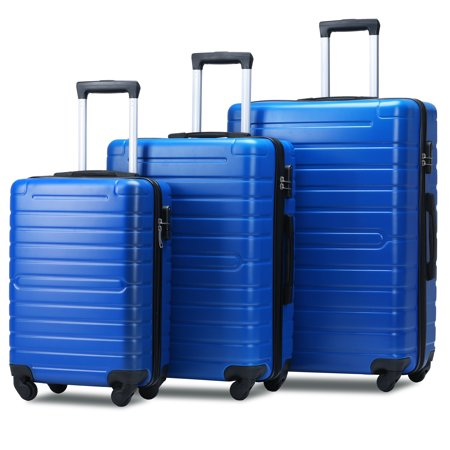 Merax Travelhouse 3 Piece Hardside Luggage Set