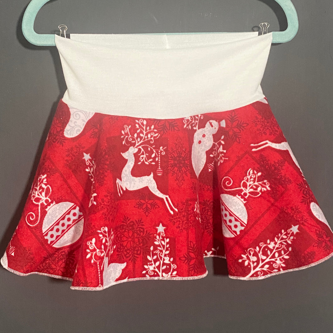 Spin Skirt: Red Christmas