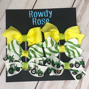 Piggy tails Bow Set (6 bows)