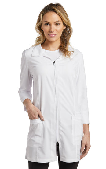 2417 Zip-closing Fit Lab coat