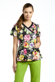 707ZOT - Printed Scrub Top LIMITED