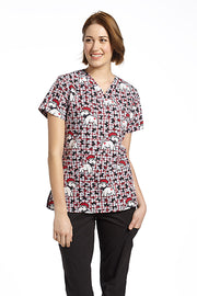 734PAU Printed Scrub Top LIMITED