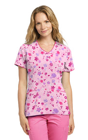 735GWP Printed Scrub Top LIMITED