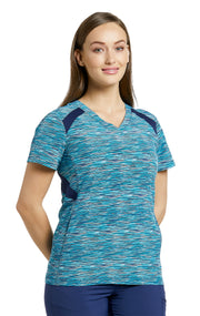 746-MTP (My Teal Space) Haut FIT col en V