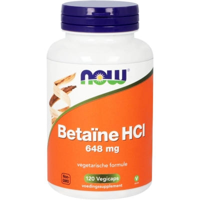 NOW Betaine HCL 648 mg 120 Vegacaps