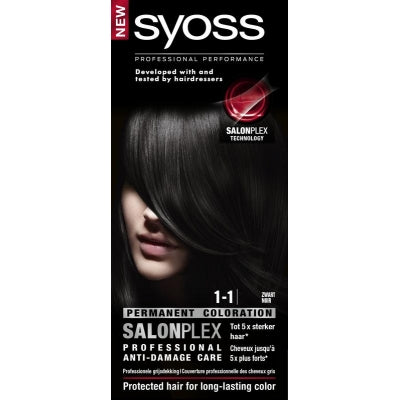 Syoss Color baseline 1-1 black haarverf 1 Set
