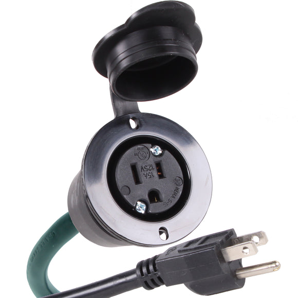 NEMA 5-15R 15 Amp 125V AC Power Outlet Port Plug w/ 20