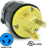 NEMA L5-30P 30A 125V Locking Receptacle Plug, Industrial Grade 3 Prong HJP-2611