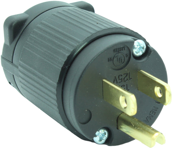 NEMA 5-15P 15A 125V Male Replacement Cord Plug Industrial Grade