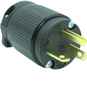 NEMA 5-20PV 20A 125V Male Replacement Cord Plug, 520P