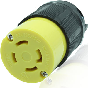 NEMA L14-30R 30A 125/250V Locking Female Receptacle Plug Industrial Grade 4Prong HJP-2713