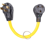 RV 50Amp Male To 30Amp Female Camper Power Cord Plug Adapter Cable NEMA L14-50P to TT-30R (50M/30F)