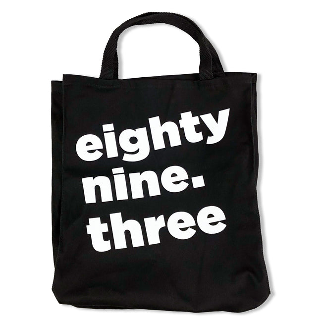 The Current 89.3 Black Tote Bag
