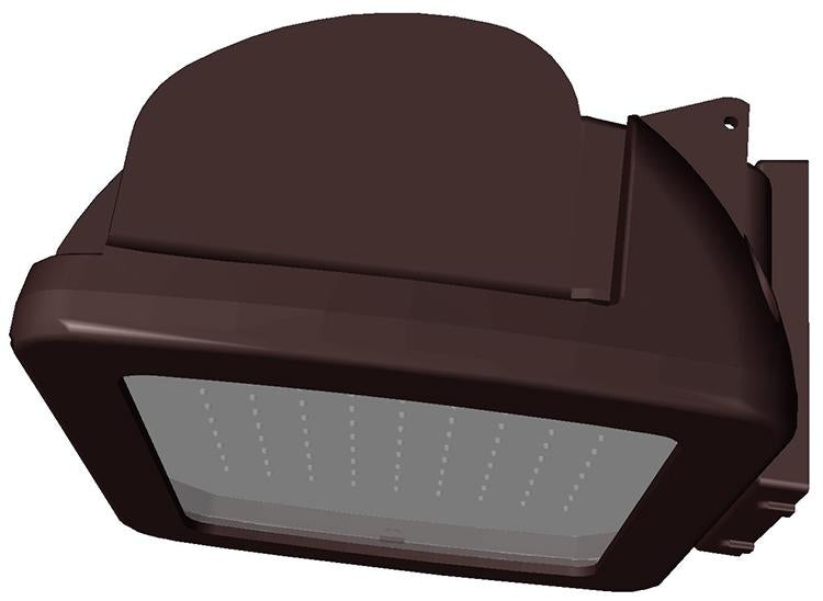 ( TLF - AD25 SERIES - 78W ) 100W EQUIVALENT HID 120-277V  - AD25 SERIES COLOR LED LED AREA LIGHT / FLOOD LIGHT / WALL PACK BRONZE FINISH