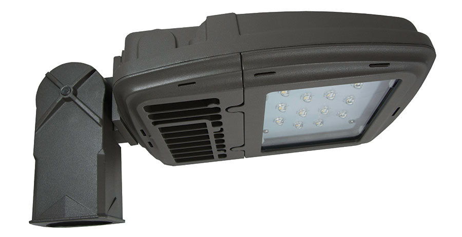 ( TLF - KH15 SERIES - 22W ) 70-100W EQUIVALENT HID 120-277V  - KH15 SERIES  KITTY HAWK AREA LIGHT / FLOOD LIGHT / WALL PACK BRONZE FINISH