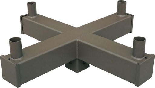 ( DURAGUARD - POLEACC038A ) QUAD SQUARE VERTICAL TENON AT 90 DEGREES FOR 5IN SQUARE POLE WITH BRONZE FINISH