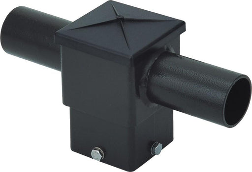 ( DURAGUARD - POLEACC030 ) TWIN SQUARE HORIZONTAL TENON AT 180 DEGREES FOR 4IN SQUARE POLE WITH BRONZE FINISH