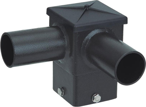 ( DURAGUARD - POLEACC031 ) TWIN SQUARE HORIZONTAL TENON AT 90 DEGREES FOR 4IN SQUARE POLE WITH BRONZE FINISH