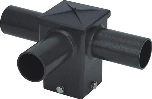 ( DURAGUARD - POLEACC032 ) TRIPLE SQUARE HORIZONTAL TENON AT 90 DEGREES FOR 4IN SQUARE POLE WITH BRONZE FINISH