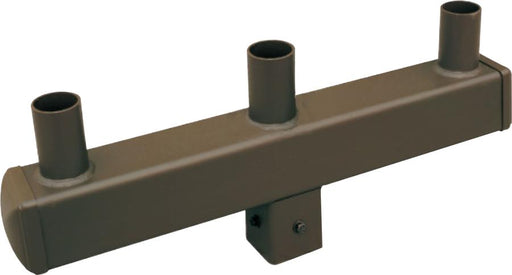 ( DURAGUARD - POLEACC037C ) TRIPLE SQUARE VERTICAL TENON FOR 5IN SQUARE POLE WITH BRONZE FINISH