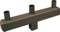 ( DURAGUARD - PSS4TRVTZ ) TRIPLE SQUARE VERTICAL TENON FOR 4IN SQUARE POLE WITH BRONZE FINISH
