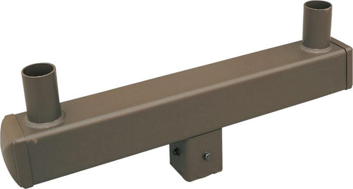 ( DURAGUARD - POLEACC037A ) TWIN SQUARE VERTICAL TENON FOR 5IN SQUARE POLE WITH BRONZE FINISH