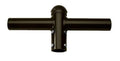 ( DURAGUARD - PTSB2180SB ) DOUBLE 180 DEGREE HORIZONTAL TENON ADAPTER WITH BLACK FINISH
