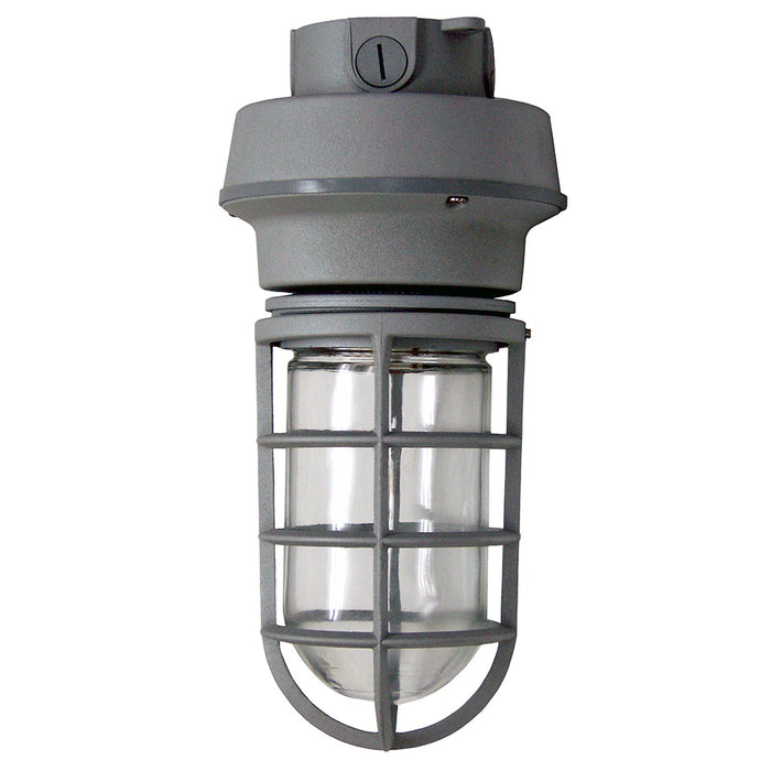 ( TLF - UL1-70-UNV-50K-CL-GR-BM  ) 10W 120-277V 5000K 836LM 80CRI 70W EQUIVALENT INTEGRATED LED FLUSH MOUNT / SURFACE MOUNT / CEILING MOUNT JELLY JAR VAPOR TIGHT UTILITY LIGHT