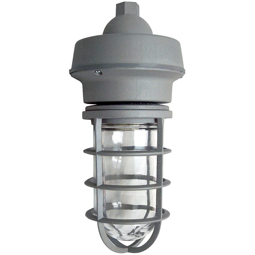 ( TLF - UL1-70-UNV-50K-CL-GR-PM  ) 10W 120-277V 5000K 836LM 80CRI 70W EQUIVALENT INTEGRATED LED OUTDOOR PENDANT PENDANT MOUNT  JELLY JAR VAPOR TIGHT UTILITY LIGHT