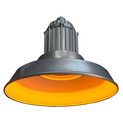 ( DURAGUARD - VB53QF1X23UAMPSS ) 27W 120-277V 585-595NM DURALED AMBER LEDICATED VAPORPROOD STRAIT SHADE WITH SURFACE BOX MOUNT AND PLATINUM FINISH - FWC CERTIFIED WILDLIFE LIGHTING