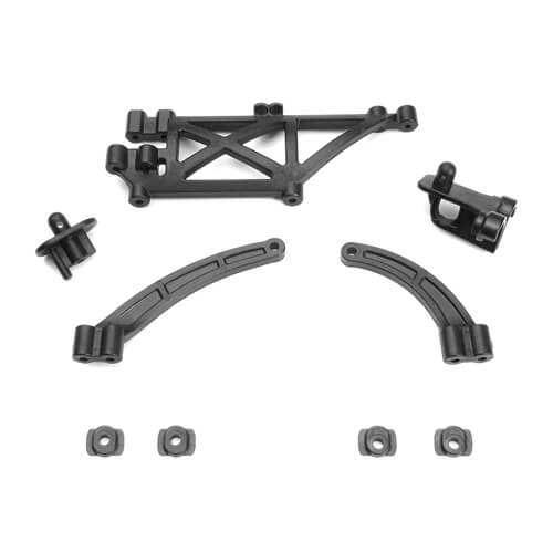Tekno – Chassis Brace, Body Mount Set (EB410) - The R/C House
