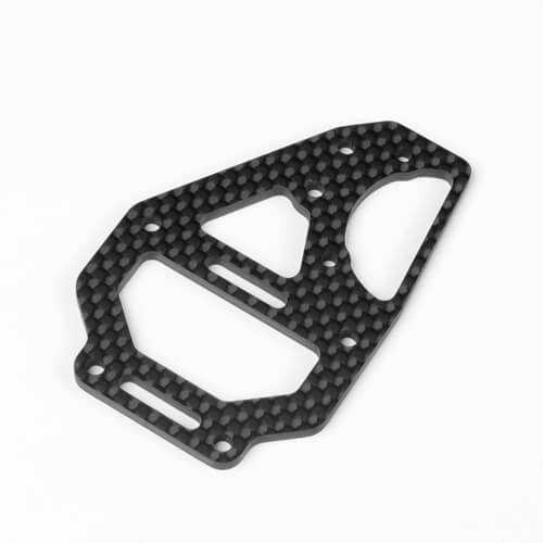 Tekno – Center Diff Top Plate and Fan Mount (carbon fiber, EB410) - The R/C House