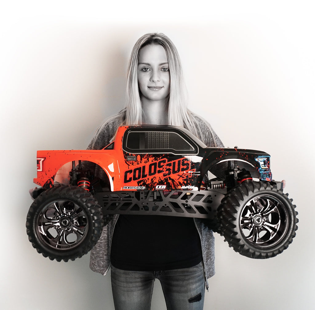 COLOSSUS XT Mega Monster Truck RTR, w/ a HobbyWing ESC, Savox Steel Gear Servo, and 2.4Ghz Radio - The R/C House