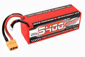 Corally - 5400mAh 14.8v 4S 50C Hardcase Sport Racing LiPo Battery with Hardwired XT90 Connector