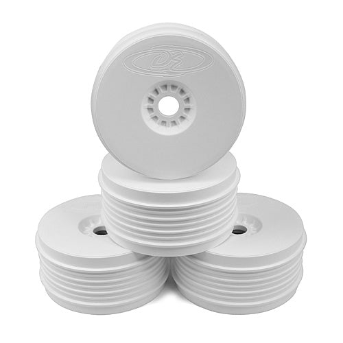 DE Racing - White Speedline Plus Buggy Wheels for 1/8 Buggy (4pcs) - The R/C House
