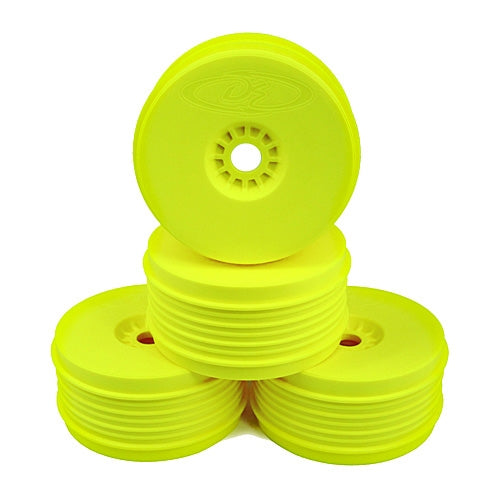 DE Racing - Yellow Speedline Plus Buggy Wheels for 1/8 Buggy (4pcs)