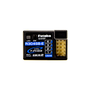 Futaba - R304SB-E T-FHSS Telemetry System 4-Channel 2.4GHz Micro Receiver, for Electric Only
