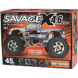SAVAGE X 4.6 Big Block RTR, Nitro Powered Monster Truck, 1/8 Scale, 4X4 - The R/C House