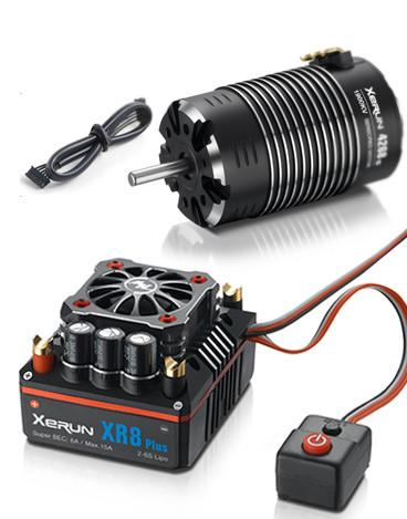 HobbyWing - XERUN XR8 1/8 ESC (2S-6S) & G2 4268SD 1900KV Sensored Motor Combo - The R/C House