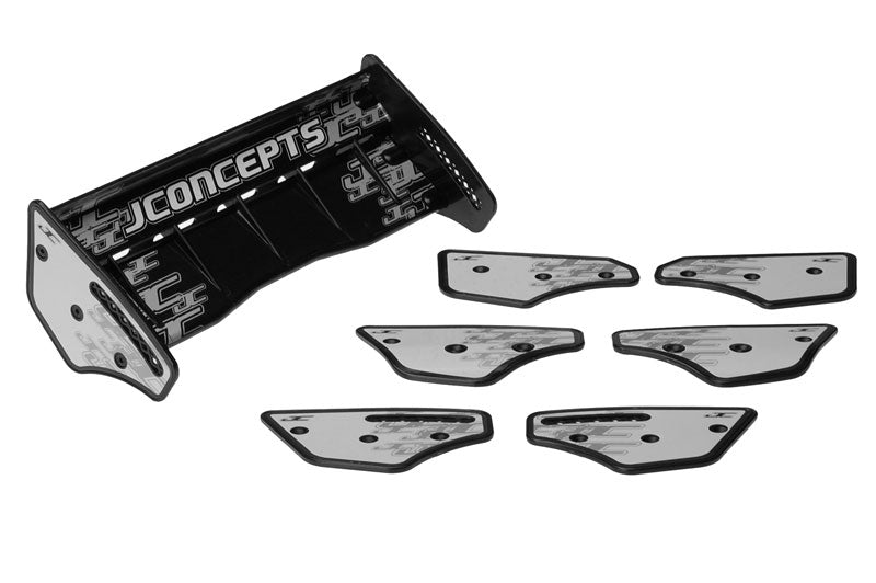 JConcepts - Punisher 1/8th Wing, Side Dams & Decal (Black) - The R/C House
