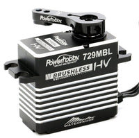 Powerhobby 729MBL High Voltage Waterproof Brushless Steel Gear Servo, w/ Aluminum Case - The R/C House