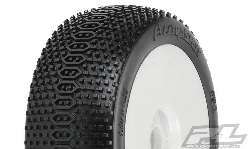 Proline – ElectroShot X3 (Soft) Off-Road 1/8 Buggy Tires (2) Mounted on V2 White Wheels - The R/C House