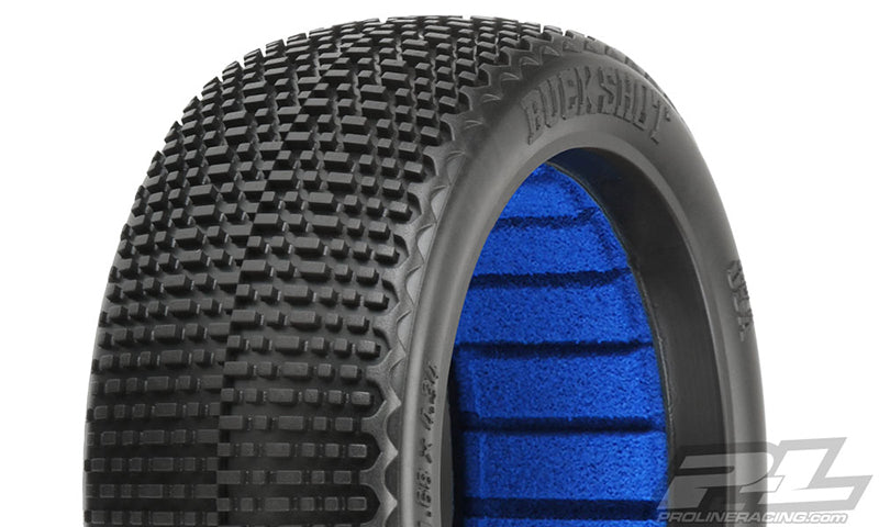 Proline - Buck Shot S2 Off-Road 1/8 Buggy Tires, Medium, for Front or Rear (2pcs)